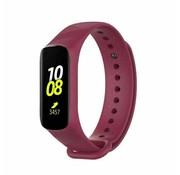 Strap-it® Samsung Galaxy Fit e siliconen bandje (bordeauxrood)