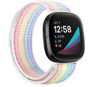 Strap-it® Fitbit Versa 3 nylon band (kleurrijk)