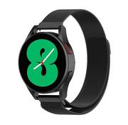 Strap-it® Samsung Galaxy Watch 4 - 44mm Milanese band (zwart)