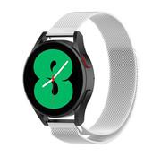 Strap-it® Samsung Galaxy Watch 4 - 44mm Milanese band (zilver)