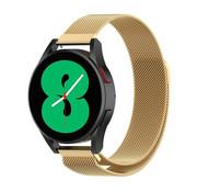Strap-it® Samsung Galaxy Watch 4 - 44mm Milanese band (goud)