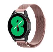 Strap-it® Samsung Galaxy Watch 4 - 44mm Milanese band (roze)
