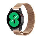 Strap-it® Samsung Galaxy Watch 4 - 44mm Milanese band (rosé goud)