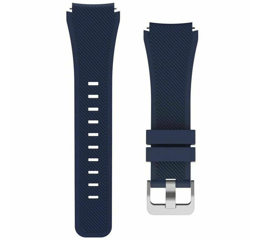 Strap-it Samsung Galaxy Watch 4 - 40mm siliconen bandje (donkerblauw)
