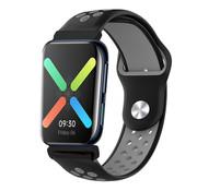 Strap-it® Oppo Watch sport bandje (zwart/grijs)