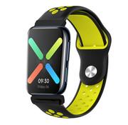 Strap-it® Oppo Watch sport bandje (zwart/geel)