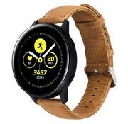 Strap-it® Samsung Galaxy Watch active leren bandje (bruin)