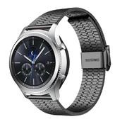 Strap-it® Samsung Gear S3 roestvrij stalen band (zwart)