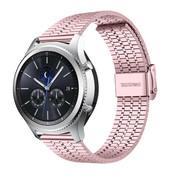 Strap-it® Samsung Gear S3 roestvrij stalen band (rosé pink)