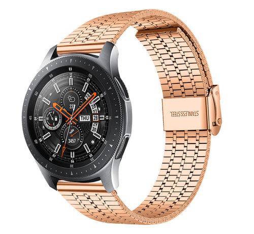 Strap-it® Strap-it® Samsung Galaxy Watch 46mm roestvrij stalen band (rosé goud)
