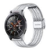 Strap-it® Samsung Galaxy Watch 46mm roestvrij stalen band (zilver)