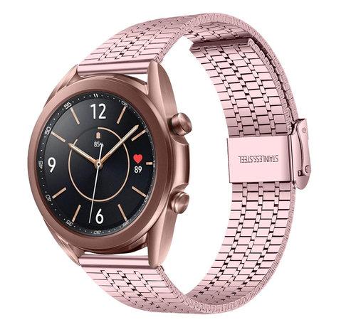 Strap-it® Strap-it® Samsung Galaxy Watch 3 41mm roestvrij stalen band (rosé pink)