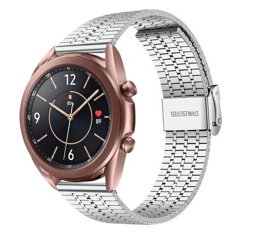 Strap-it® Strap-it® Samsung Galaxy Watch 3 41mm roestvrij stalen band (zilver)