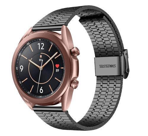 Strap-it® Strap-it® Samsung Galaxy Watch 3 41mm roestvrij stalen band (zwart)