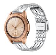 Strap-it® Samsung Galaxy Watch 42mm roestvrij stalen band (zilver)