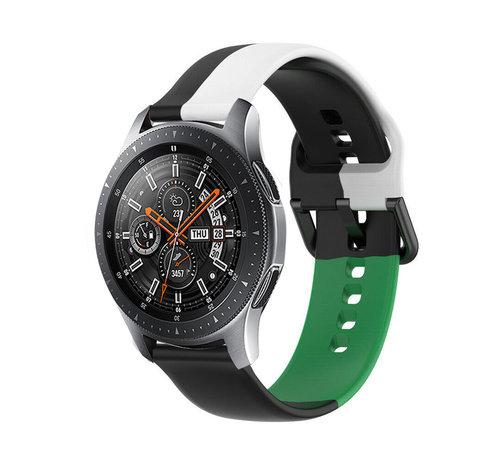 Strap-it® Strap-it® Samsung Galaxy Watch 46mm triple sport band (zwart-wit-groen)
