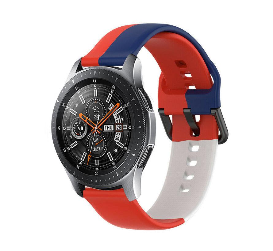 Strap-it® Samsung Galaxy Watch 46mm triple sport band (rood-wit-blauw)