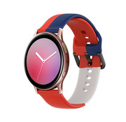 Strap-it® Samsung Galaxy Watch Active triple sport band (rood-wit-blauw)