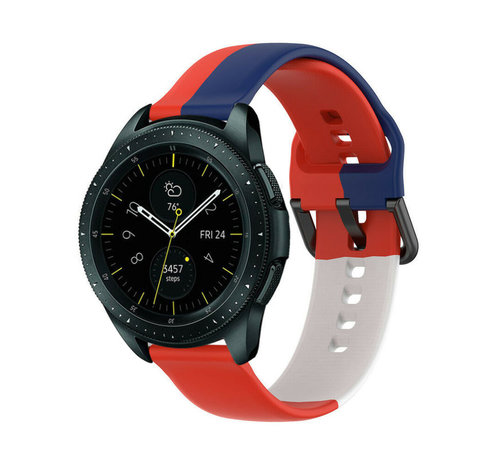 Strap-it® Strap-it® Samsung Galaxy Watch 42mm triple sport band (rood-wit-blauw)