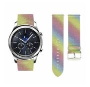 Strap-it® Samsung Gear S3 leren glitter bandje (regenboog)