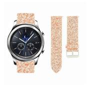 Strap-it® Samsung Gear S3 leren glitter bandje (rosé goud)