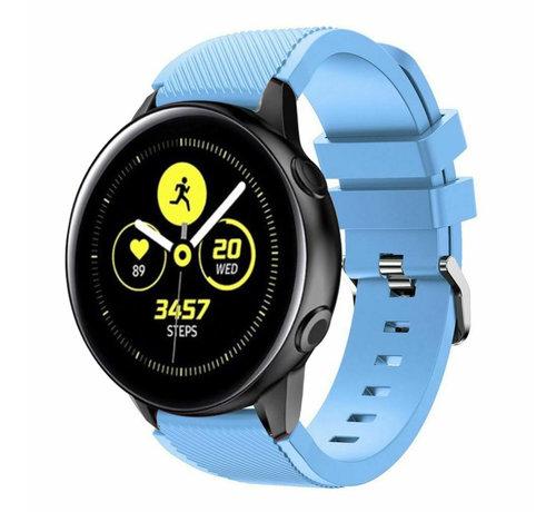 Strap-it® Strap-it® Samsung Galaxy Watch Active silicone band (zandblauw)