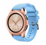 Strap-it® Samsung Galaxy Watch 42mm siliconen bandje (zandblauw)