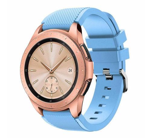 Strap-it® Strap-it® Samsung Galaxy Watch 42mm siliconen bandje (zandblauw)