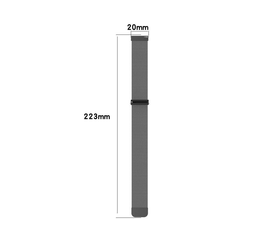 Strap-it® Samsung Galaxy Watch 4 Classic 42mm Milanese band (zwart)