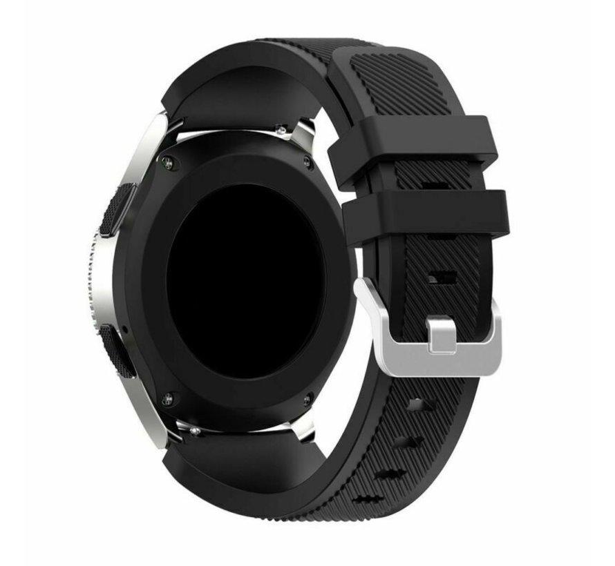 Strap-it Samsung Galaxy Watch 4 Classic 42mm siliconen bandje (zwart)