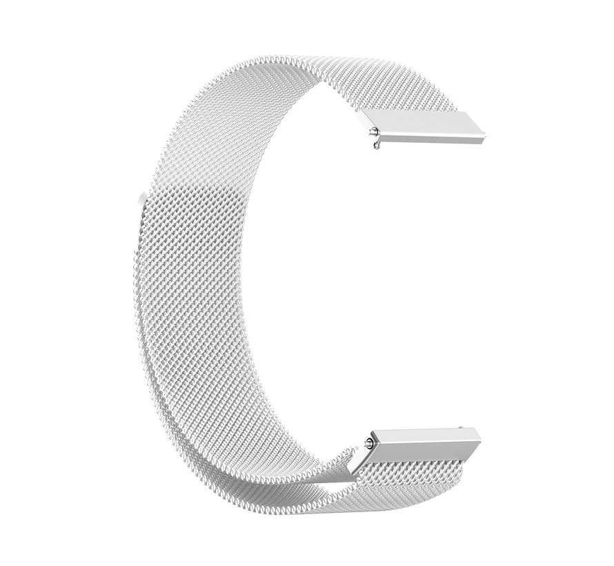 Strap-it® Samsung Galaxy Watch 4 Classic 42mm Milanese band (zilver)
