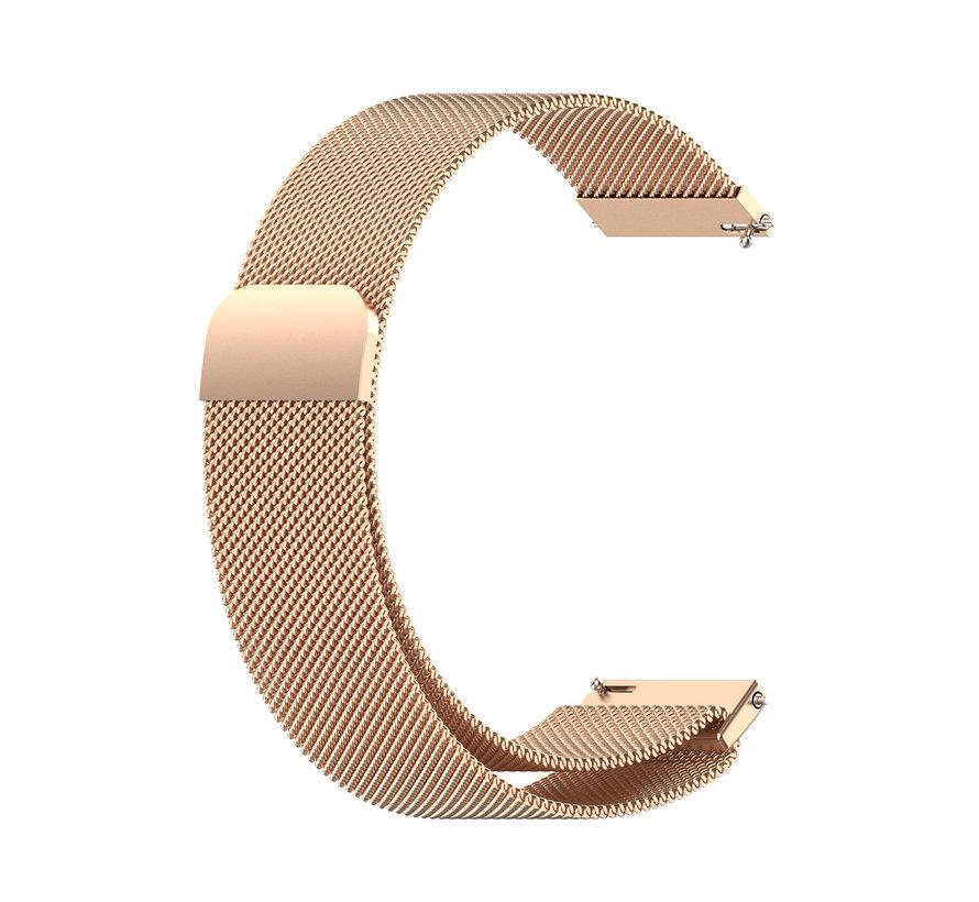 Strap-it® Samsung Galaxy Watch 4 Classic 42mm Milanese band (rosé goud)
