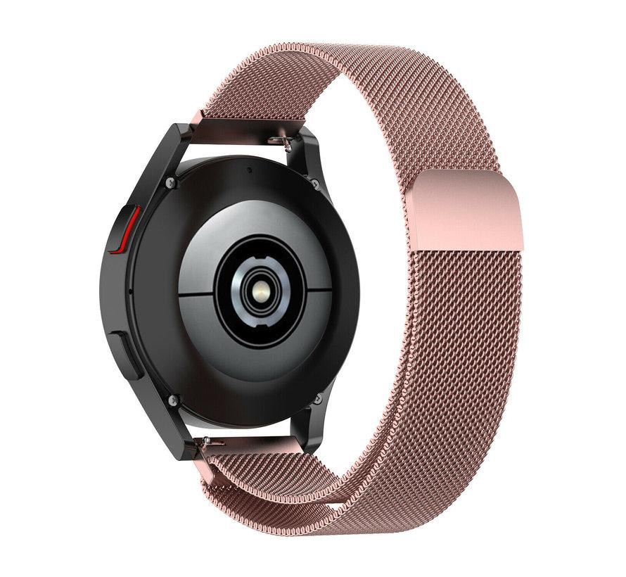 Strap-it® Samsung Galaxy Watch 4 Classic 42mm Milanese band (roze)