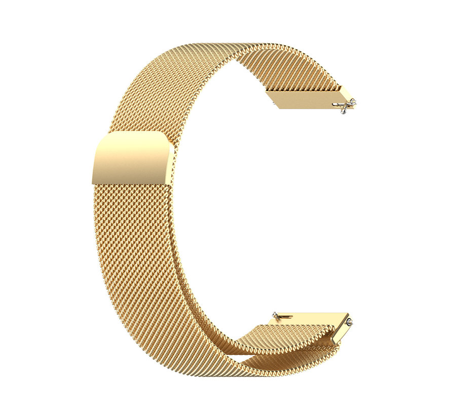 Strap-it® Samsung Galaxy Watch 4 Classic 42mm Milanese band (goud)