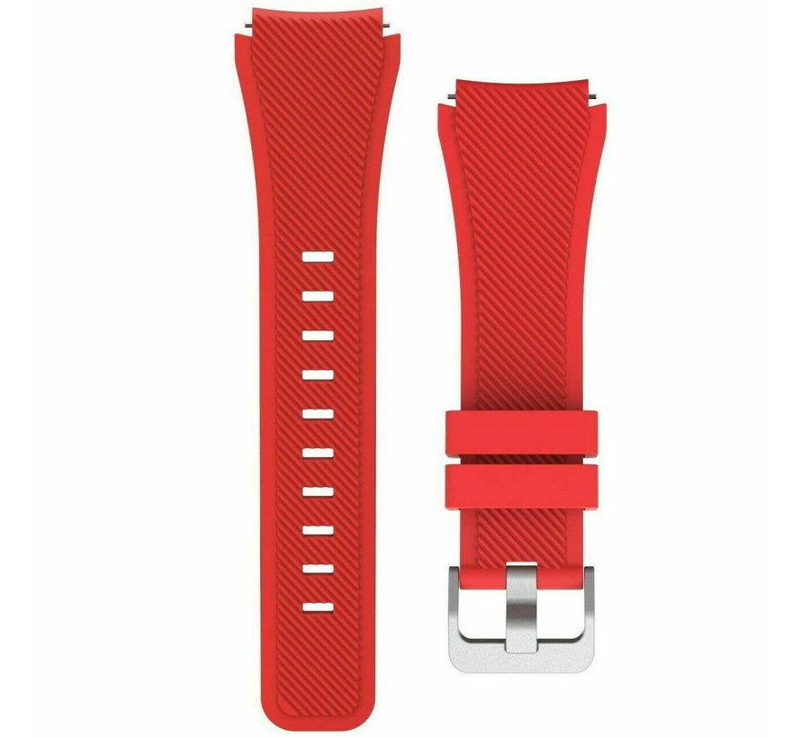Strap-it Samsung Galaxy Watch 4 Classic 42mm siliconen bandje (rood)