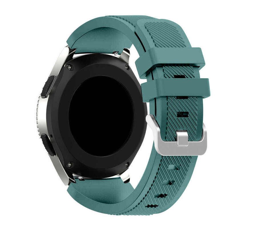 Strap-it Samsung Galaxy Watch 4 Classic 42mm siliconen bandje (dennengroen)