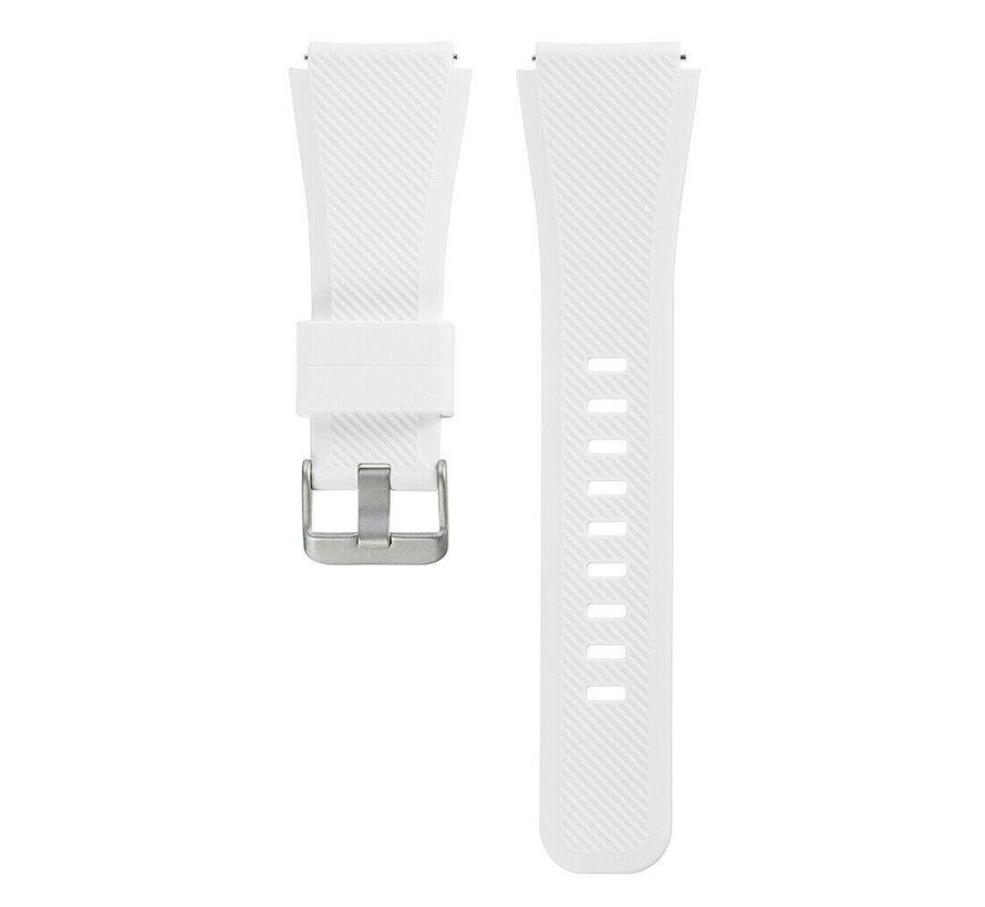 Strap-it Samsung Galaxy Watch 4 Classic 46mm siliconen bandje (wit)