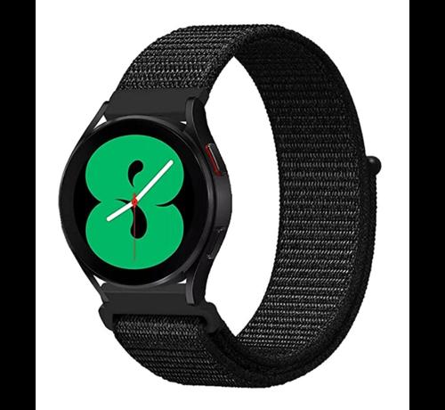 Strap-it® Strap-it® Samsung Galaxy Watch 4 - 40mm nylon band (zwart)