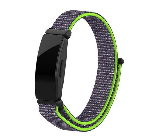 Strap-it® Strap-it® Fitbit Inspire nylon bandje (groen)