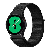 Strap-it® Samsung Galaxy Watch 4 - 44mm nylon band (zwart)