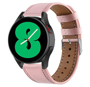 Strap-it® Samsung Galaxy Watch 4 - 40mm leren bandje (roze)