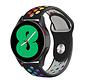 Strap-it® Samsung Galaxy Watch 4 - 40mm sport band (zwart/kleurrijk)