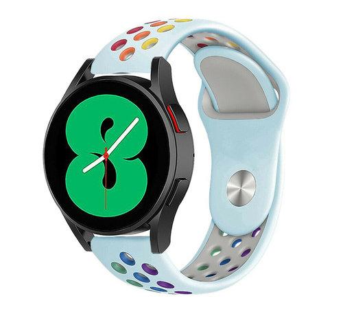 Strap-it® Strap-it® Samsung Galaxy Watch 4 - 40mm sport band (lichtblauw/kleurrijk)
