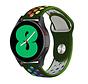 Strap-it® Samsung Galaxy Watch 4 - 40mm sport band (legergroen/kleurrijk)
