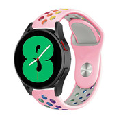 Strap-it® Samsung Galaxy Watch 4 - 44mm sport band (roze/kleurrijk)