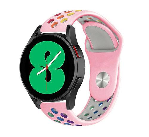 Strap-it® Strap-it® Samsung Galaxy Watch 4 - 44mm sport band (roze/kleurrijk)
