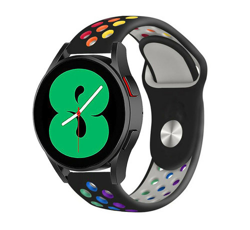 Strap-it® Strap-it® Samsung Galaxy Watch 4 - 44mm sport band (zwart/kleurrijk)