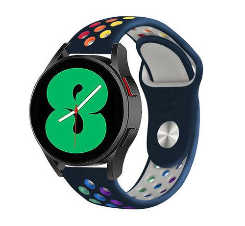 Strap-it® Strap-it® Samsung Galaxy Watch 4 - 44mm sport band (donkerblauw/kleurrijk)