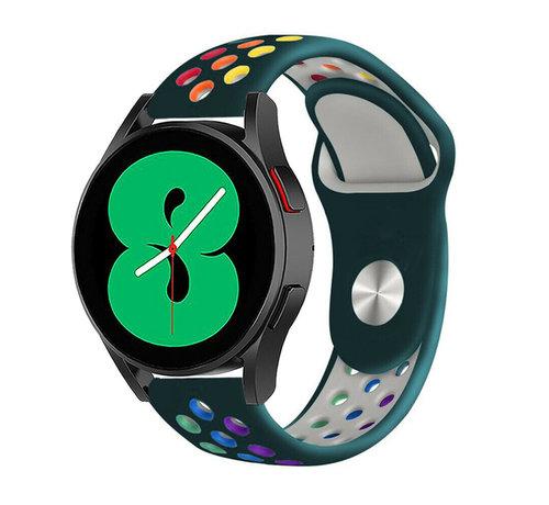 Strap-it® Strap-it® Samsung Galaxy Watch 4 - 44mm sport band (dennengroen/kleurrijk)