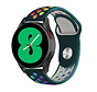 Strap-it® Samsung Galaxy Watch 4 - 44mm sport band (dennengroen/kleurrijk)